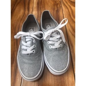 Silver Sparkly Vans